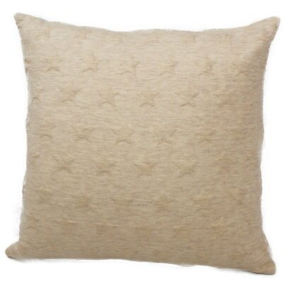 Emma and Violet Star Brilliant Throw Pillow Color: Beige