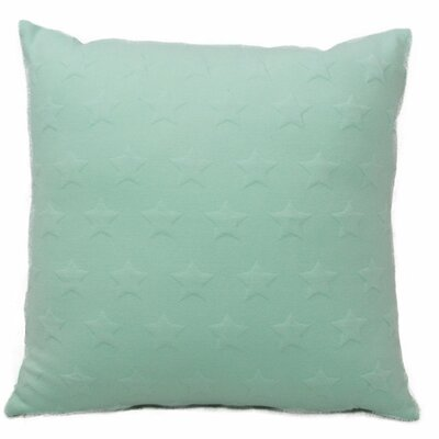 Emma and Violet Star Brilliant Throw Pillow Color: Mint