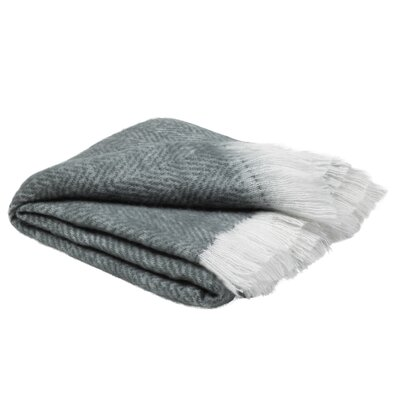 Jenine Mohair Solid Charcoal Throw Blanket 50 X 60