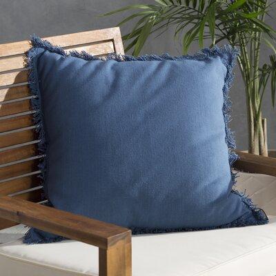 Urban Loft Fringe Throw Pillow Color: Blue