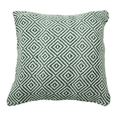 Defino Raised Diamond Throw Pillow Color: Gray