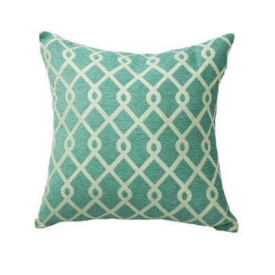 Defino Chain Link Throw Pillow Color: Teal
