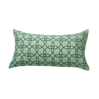 Defino Spirograph Lumbar Pillow Color: Denim