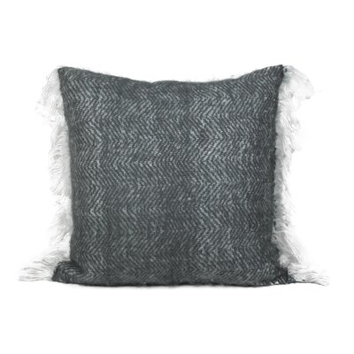 Defino Mohair Throw Pillow Color: Charcoal