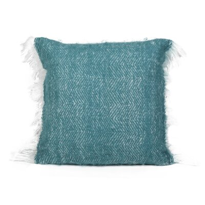 Defino Mohair Throw Pillow Color: Teal