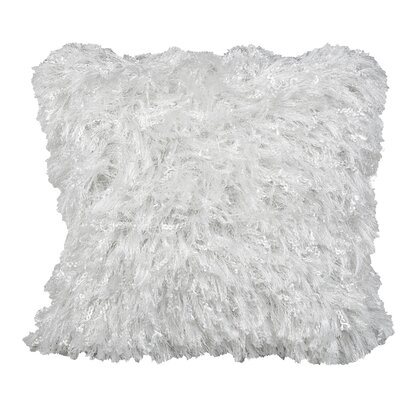 Towson Shiny Shag Throw Pillow Color: Light White