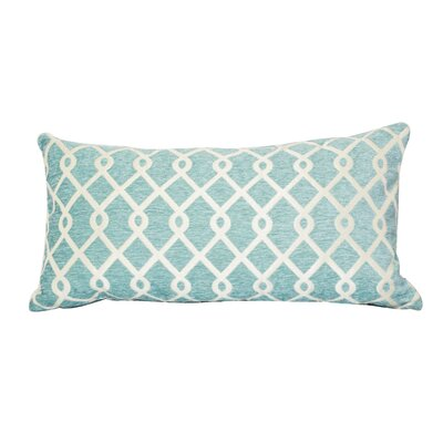 Defino Chain Link Lumbar Pillow Color: Teal
