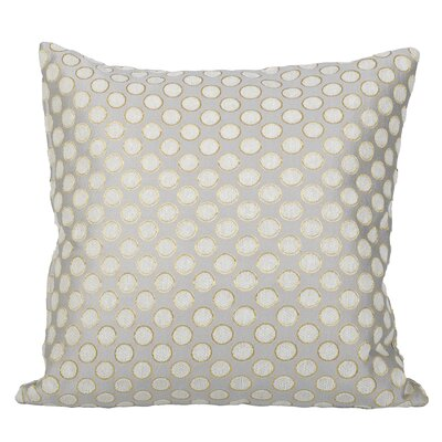 Clairsville Dots Gold Line Throw Pillow Color: Gray