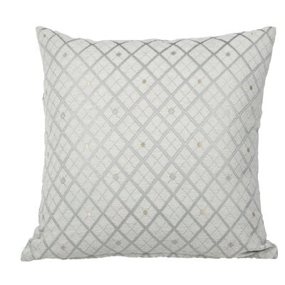 Clairsville Diamond Gold Line Throw Pillow Color: Teal