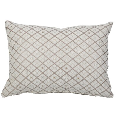 Clairsville Diamond Gold Line Lumbar Pillow Color: Blush