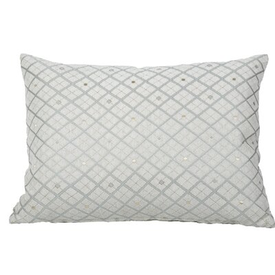 Clairsville Diamond Gold Line Lumbar Pillow Color: Teal