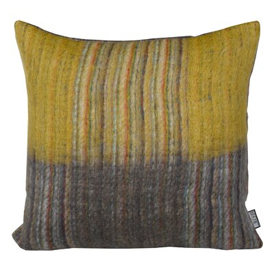 Tessier Square Throw Pillow Color: Gold