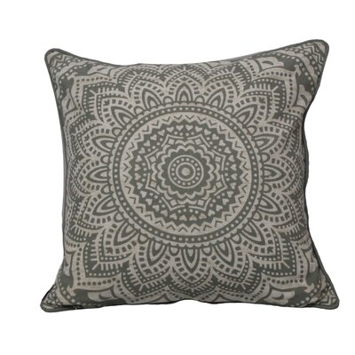 Toph Starburst Medallion Throw Pillow Color: Gray