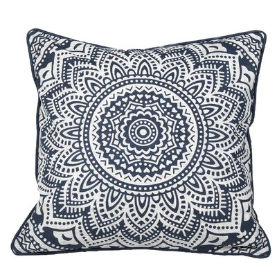 Toph Starburst Medallion Throw Pillow Color: Navy Blue