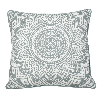 Toph Starburst Medallion Throw Pillow Color: Teal Green