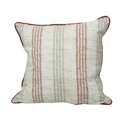Calafia Stripes Throw Pillow Color: Brick Red/Paloma Gray