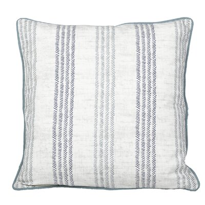 Calafia Stripes Throw Pillow Color: Teal Green/Navy Blue