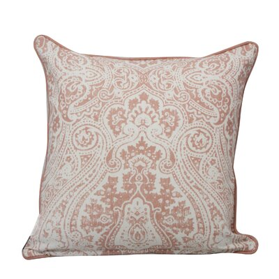 Toph Vintage Paisley Throw Pillow Color: Blush