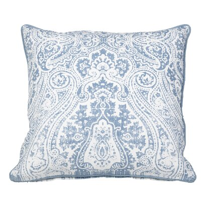 Toph Vintage Paisley Throw Pillow Color: Middle Blue