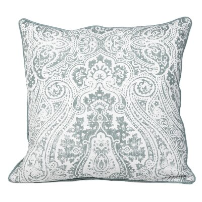 Toph Vintage Paisley Throw Pillow Color: Teal Green