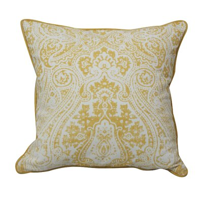 Toph Vintage Paisley Throw Pillow Color: Yellow