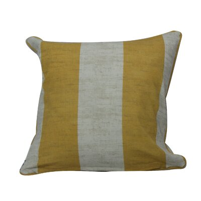 Fairchild Stripes Throw Pillow Color: Yellow