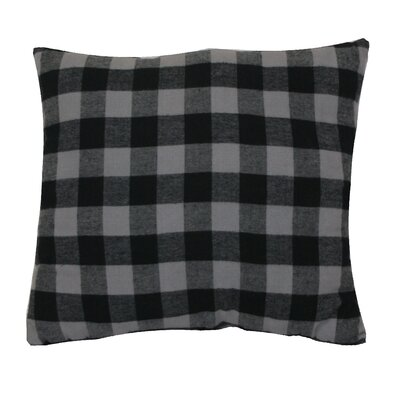 Devrek Throw Pillow Color: Black/Frost Gray