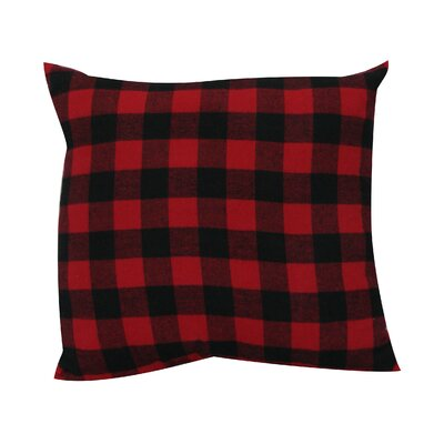 Devrek Throw Pillow Color: Red/Black