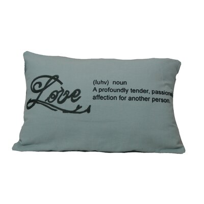 Defino Love Lumbar Pillow Color: Blue