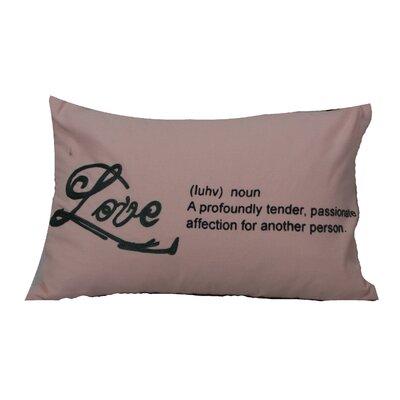 Defino Love Lumbar Pillow Color: Pink