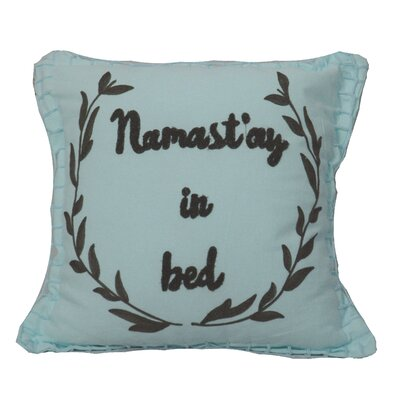 Defino Namastay Throw Pillow Color: Blue