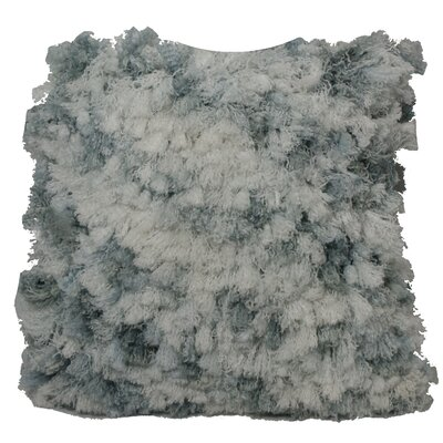 Ludlow Curly Shag Throw Pillow Color: White/Gray