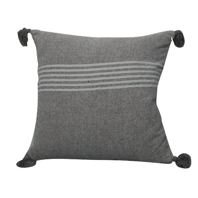 Toph Heathered Stripe Throw Pillow Color: Black/Silver