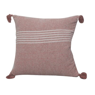 Toph Heathered Stripe Throw Pillow Color: Red/White