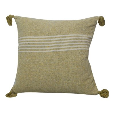 Toph Heathered Stripe Throw Pillow Color: Silver/Yellow