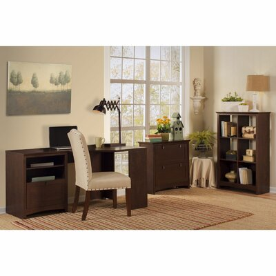 Buena Vista Corner Desk with 6-Cube Bookcase and Lateral File Product Picture 6184