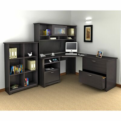 Cabot 3-Piece Corner Desk Office Suite Finish: Espresso Oak Product Picture 6184