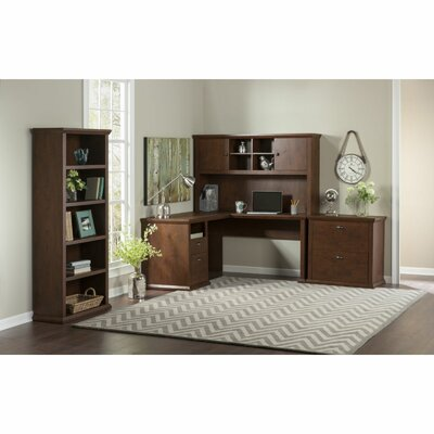 Yorktown Corner Desk with Hutch, Lateral File and Bookcase Product Picture 6184