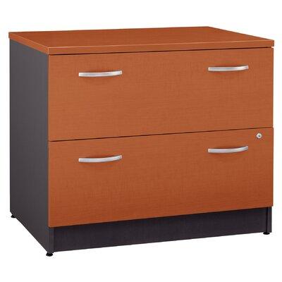 Bush Series C 2-Drawer Filing Cabinet - Finish: Mahogany (Assembled)