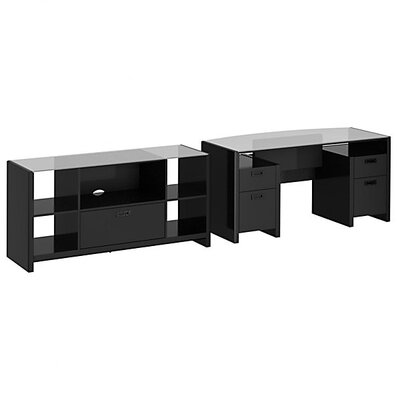 New York Skyline 2-Piece Standard Desk with Credenza Product Picture 6184