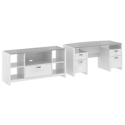 New York Skyline 2-Piece Standard Desk Office Suite Product Picture 2690