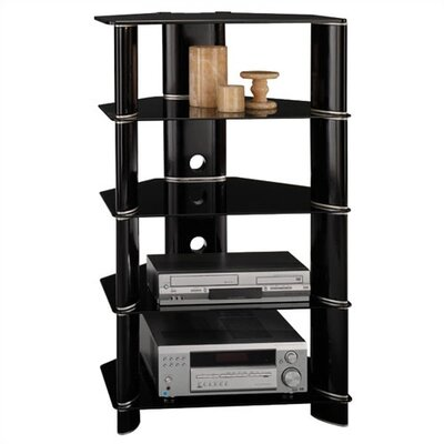 Cheap Bush Segments Collection – Audio Rack in Black (BU2924)