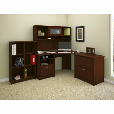 Cabot 3-Piece Corner Desk Office Suite Finish: Harvest Cherry Product Picture 5812