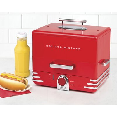 Diner Style Hot Dog Steamer with Lid HDS248RD