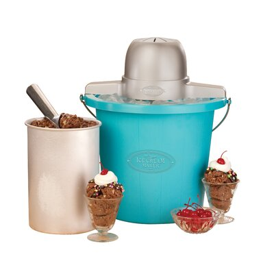 Old Fashioned Ice Cream Maker In Blue