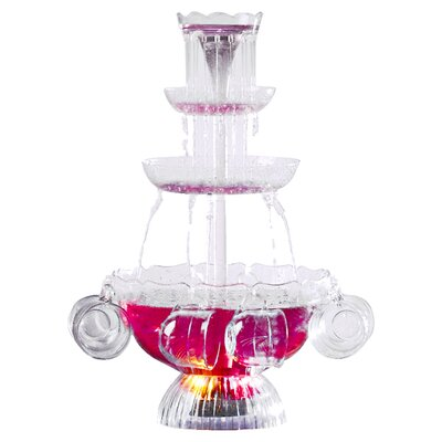 Vintage Lighted Punch Party 3 Tier Fountain with Cups LPF210