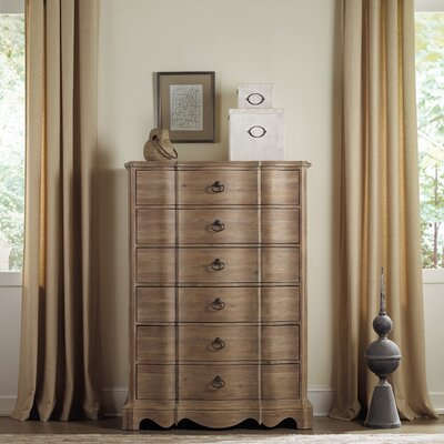 Corsica 6 Drawer Chest Finish: Natural