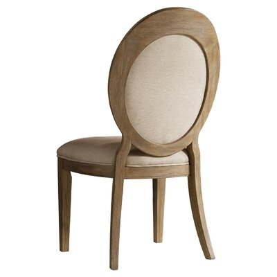Corsica Upholstered Dining Chair (Set of 2) Finish: Natural