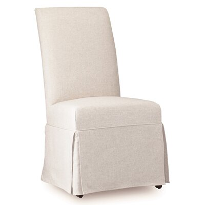 Sanctuary Clarice Parsons Chair (Set of 2) Upholstery: Jade White