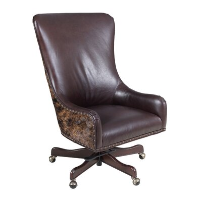 Leather Tilt Swivel Executive Chair Color: La Rabida Ranch Product Image 1546